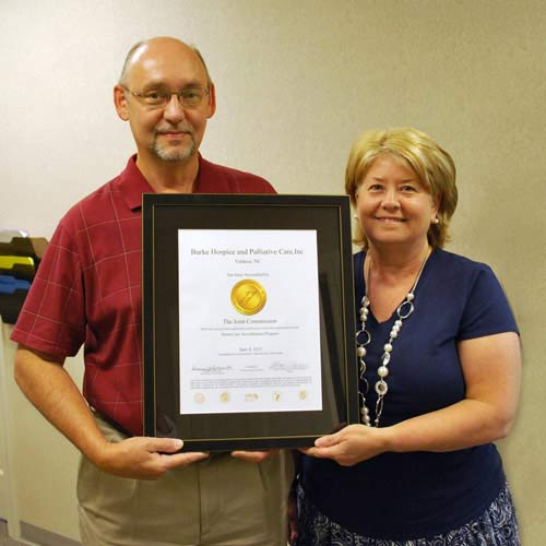 Burke Hospice & Palliative Care on Receiving The Joint Commission Accreditation