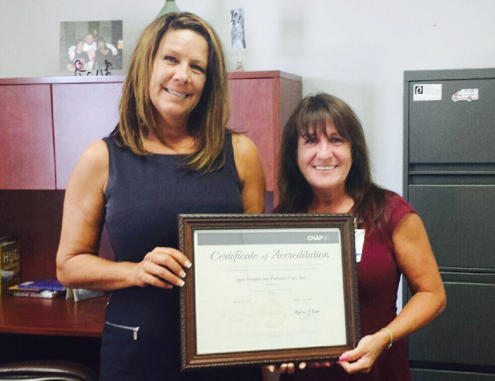 Apex Hospice earns CHAP Certification